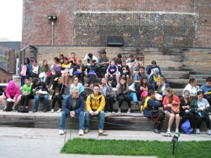 Students visit the Highline
