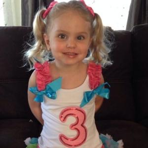 Juliet Gately Age 3