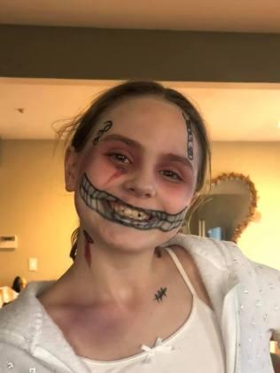 """Juliet has been practicing her """"Special Effects"""" skills"""